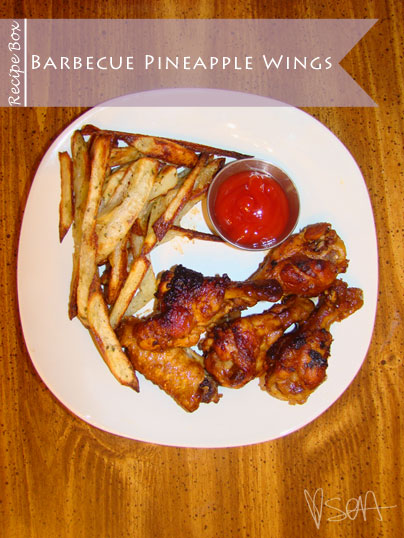 Recipe Box: Barbecue Pineapple Wings via @soainspired