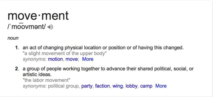 movement definition