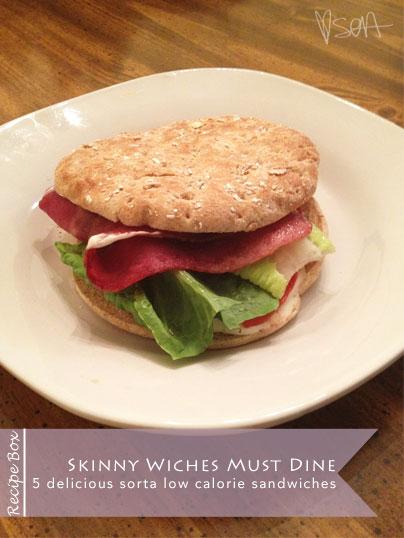 low calorie sandwich recipes