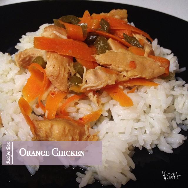Recipe Box-Orange Chicken with Rice-via SOAinspired